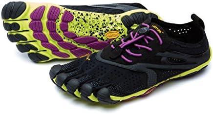 vibram five fingers ビブラム ファイブフィンガーズ V-Run ブイラン レディース w's Black/Yellow/Purple 16W3105 (W36(22.5cm), Black/Yellow/Purple)