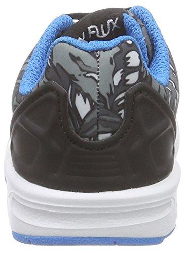 adidas Originals ZX Flux - Zapatillas infantil Gris (core black/ftwr white/solar blue2 s14)