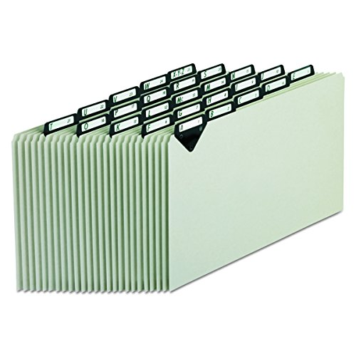 Pendaflex MTN1025 Steel Top Tab Recycled Guides, Alpha, 1/5 Tab, Pressboard, Legal (Set of 25)