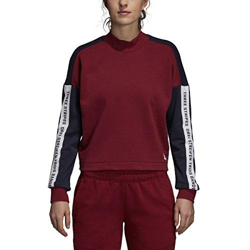 Legend Mens Sweatshirt - adidas Athletics Sport ID Sweatshirt, Noble Maroon/Legend Ink/White, X-Small