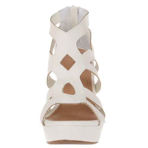 White 15 Womens Moda Ella Sandals Top Wedge Fashion xq0ZwAaat