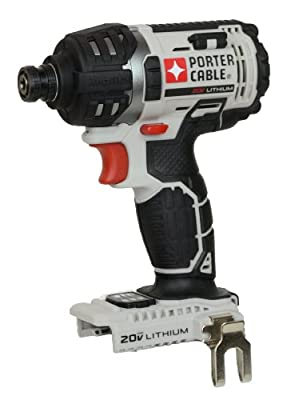 "Porter Cable PCC640 20V Max Lithium Ion 1/4"" Hex Impact Driver (Bare Tool - No Battery, Charger or Case)"