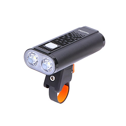 Magicshine 2018 New Bike Lights, Monteer 1400 Bike Headlight, 2xCREE XM-L2 LEDs, 1400 lumens of max Output, All in one Design Road Bike Front Light USB Rechargeable and Battery Cartridge Design by Magicshine