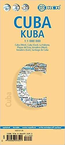 Cuba, mapa de carreteras plastificado. Escala 1:1.000.000 ...