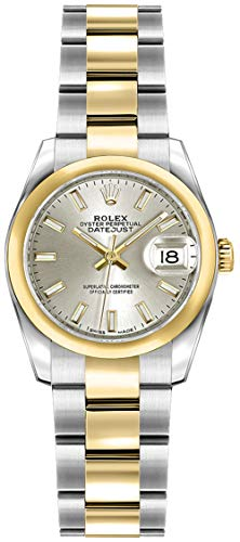 Rolex Lady-Datejust 26 Silver Dial Gold and Steel Luxury Women's Watch 179163