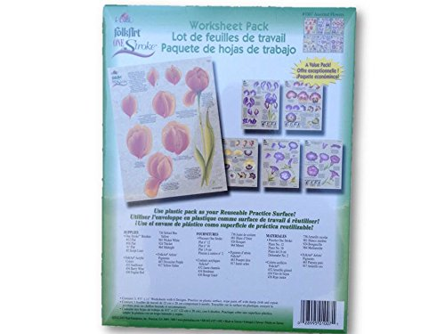 UPC 028995010071, 1007 Assorted Flowers One Stroke Reusable Painting Teaching Guide Worksheet Pack
