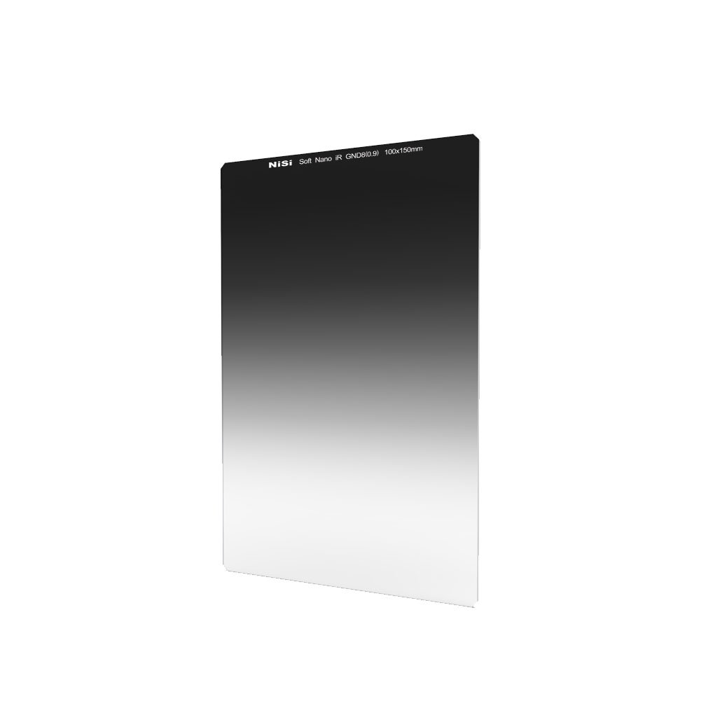 NiSi Glass 100X150mm Nano Multicoated Graduated IR Neutral Density 0.9 Soft Edge Filter (3-Stops)