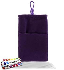 """Funda  SAMSUNG SGH S8600 [""""Cocoon""""] [Violeta] de MUZZANO + 3 Pelliculas de Pantalla """"UltraClear"""" + ESTILETE y PAÑO MUZZANO REGALADOS - La Protección Antigolpes ULTIMA, ELEGANTE Y DURADERA para su SAMSUNG SGH S8600"""