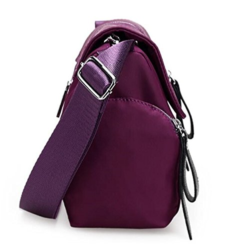 Nylon Lightweight resistant Body Z Bags Women Water Crossbody Messenger Travel Pink Hot Bags Casual Cross for Shoulder Purse Women's S5wqBgw