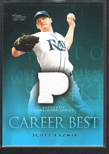 BIGBOYD SPORTS CARDS Scott KAZMIR 2009 Topps Career Best #CBRSK Game Jersey Tampa Bay Rays SP