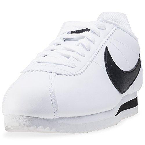 WMNS Classic de Adulte Blanc Black White Sport NIKE Mixte 101 Leather White Chaussures Cortez da85nq