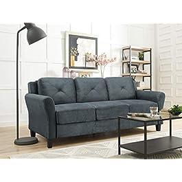 LifeStyle Solutions Harrington Sofa in Grey, Dark Grey