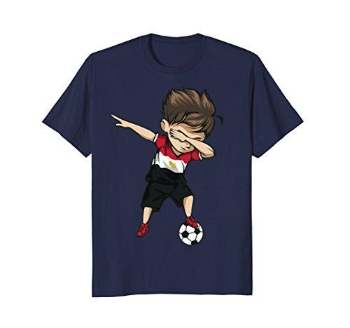 Dabbing Soccer Boy Egypt Jersey Shirt - Egyptian Football Team Flag Football Jersey