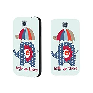 Cute Animal Print Mint Green Phone Case Tribal Elephant Turtle Umbrella Samsung Galaxy S4 9500 Case Cover with Quotes for Girls
