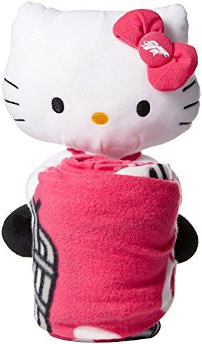 NFL Denver Broncos Hello Kitty Fleece Throw with Hugger, 40 x 50-inches