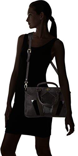 Mohekann femme Tote Gatsby Sac  porté  main Noir (Abyssal)