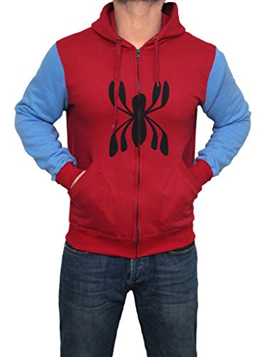 Spider Man Homecoming 2017 Hoodie - Mens Adult Full Sleeves Costume Hoodie (L) -
