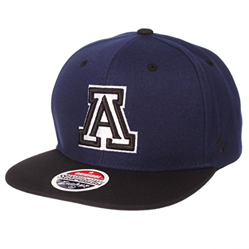 Zephyr NCAA Arizona Wildcats Men's Z11 Static Snapback Hat, Adjustable, Black/Team Color -