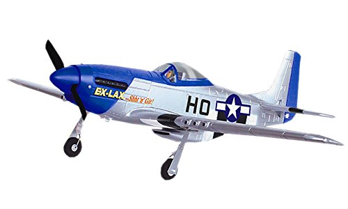 Mustang P51D Warbird 2.4Ghz 4CH 29.5″ WingSpan RC Airplane RTF P-51D Brushed EP Plane 768-1A by Poco Divo