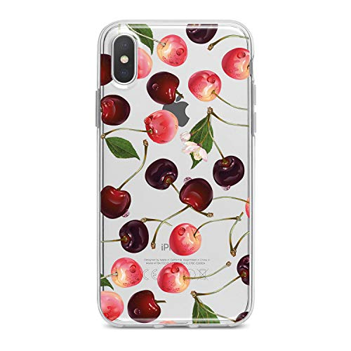 Lex Altern TPU iPhone Case Xs Xr Max 10 X 8 Plus 7 6s 6 SE 5s 5 Clear Cherries Cute Pattern Apple Phone Flexible Red Girl Teen Cover Kids Print Transparent Protective Lightweight Women Silicone