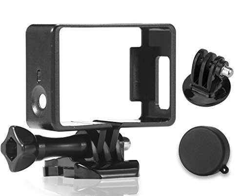 Luxebell Frame Mount Housing with Protective Lens Cover for Gopro Hero4 3+ and 3 (Standard)