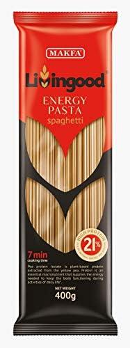 [スポンサー プロダクト]【Amazon.co.jp限定】 マクファ ハイプロテイン・エナジーパスタ スパゲッティ 1.6mm 400g×4個 ハラル認証 コーシャー認証 Set of 4 Makfa Living Good Energy Spaghetti...