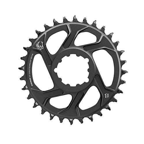 SRAM Unisex's X-Sync 2 Direct Mount 3mm Offset Boost Cold Forged Aluminum Chainring, Black, 34t