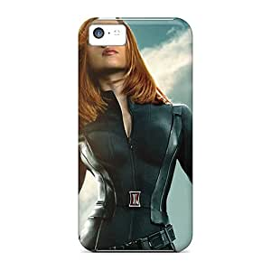Tpu Case For Iphone 5c With Black Widow Captain America The Winter Soldier