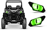 AMR Racing UTV Headlight Eye Graphics Decal Cover Compatible with Can-Am Maverick 1000 X3 Sport - Eclipse Green