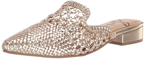 - Sam Edelman Women's Clara Mule, Molten Gold Metallic Leather, 7.5 M US