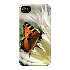 High-quality Durable Protection Case For iphone 6(butterfly On White Flowers)
