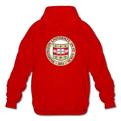 - Men's Washington University In St. Louis Seal Long Sleeve Hooded Sweatshirt Medium Red