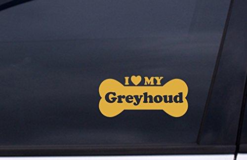 I Love My GREYHOUND vinyl STICKER 3.5