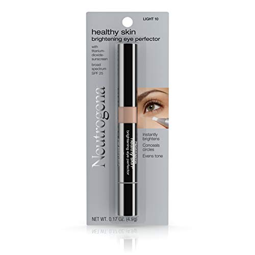 Neutrogena Healthy Skin  Brightening Eye Perfector Broad Spectrum Spf 25, Under Eye Concealer,  Light 10, .17 Oz.