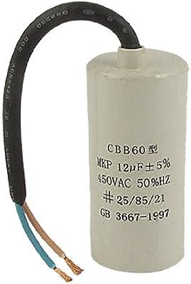 Aexit AC 450V 12UF lavadora condensador de motor de (model ...