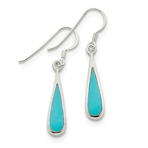 ICE CARATS 925 Sterling Silver Dangling Blue Turquoise Drop Dangle Chandelier Earrings Fine Jewelry Ideal Gifts For Women Gift Set From Heart - Turquoise Dangle Earrings Set
