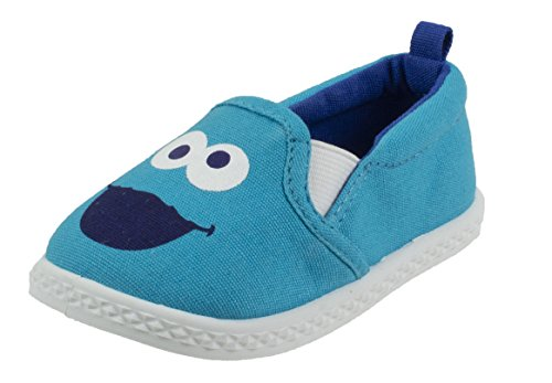 Sesame Street Sneakers Shoes - Sesame Street Cookie Monster Prewalker Infant Baby Shoe, Slip on, Blue, Size 2