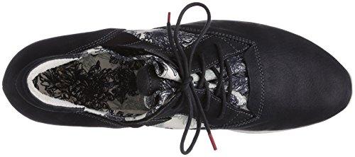 Zapatos Mujer De 08 weiss sz Aloa Schwarz Cordones Think Con Negro Cuero 5Iqacxw1yY