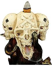thorityau Backflow wierook brander, hars wierook houder Censer, Backflow wierook kegels voor huisdecoratie,Wierook Sticks Home standbeeld Backflow Skull Snake Rockery Waterval Wierook Houder Sculptuur