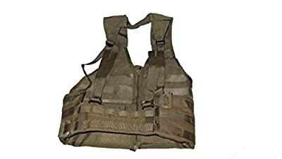U.S. Government Contractor Mole USMC Tactical Vest, Fighting Load Carrier with Zipper, Coyote Brown