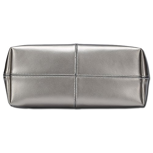 Tibes Leather Tote Ladies Handbag Designer Purse Wine Red Genuine RwqHz4w