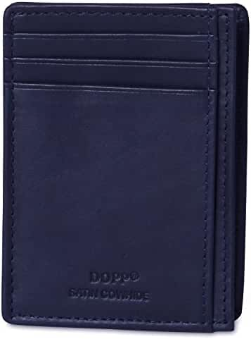 Dopp Leather Slim Wallet RFID Front Pocket Wallet Minimalist Thin Credit Card Holder