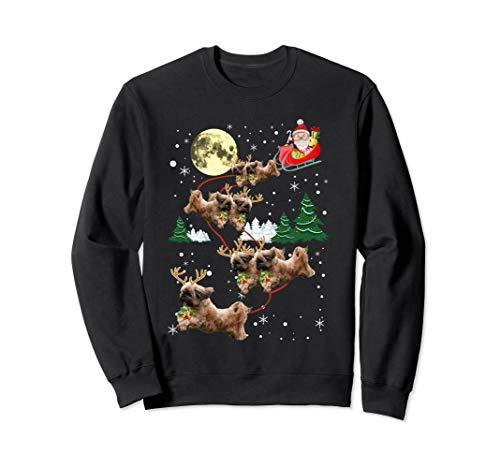 Funny Reindeer Shih Tzu Xmas Christmas Dog Lovers Gift Sweatshirt (Tzu Christmas Sweater Shih)