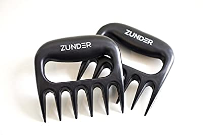 Zunder Best Pulled Pork Claws BBQ MEAT FORKS - smoker tools - barbecue shredding accessory - Heat resistant for grill - smoker and grilling accessories - chicken/pork shredder from Zunder