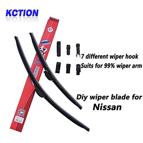 - Wipers Car Windshield Wiper Blade For NISSAN Tiida,X-Trail,Qashqai,Murano,Note,Juke,Pathfinder,Leaf,Primera,Micra,Navara,Almera,Cube - (CN, Item Length: Pathfinder 18 24)