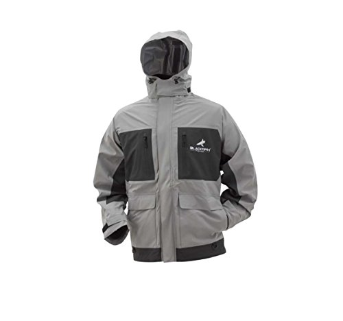 Frogg Toggs BlackTipH Rain Jacket, Light Gray/Charcoal Gray, Size Large