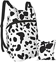 Seamless Background With Dalmatian Skin Men'S And Women'S Waterproof Folding Portable Backpack, Lightw