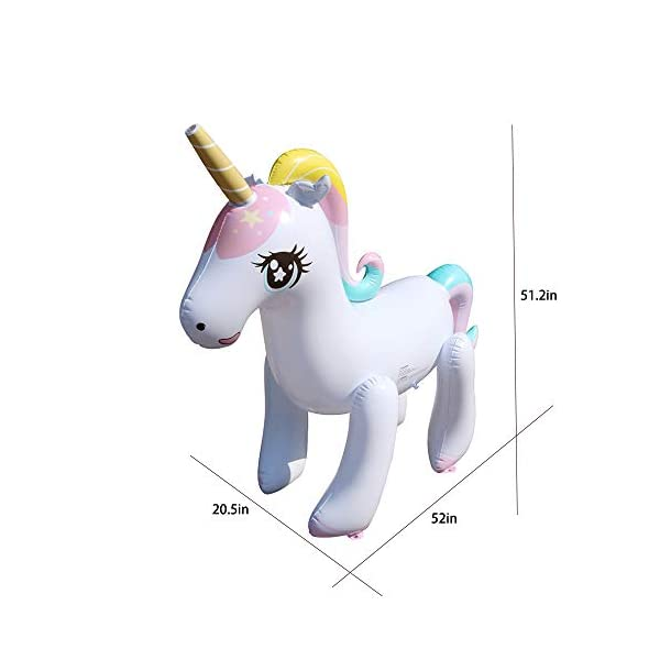 Happytime Giant Inflatable Unicorn Yard Sprinkler Newest Outdoor Inflatable Unicorn Sprinker Water Toy for Adults Kids… 6