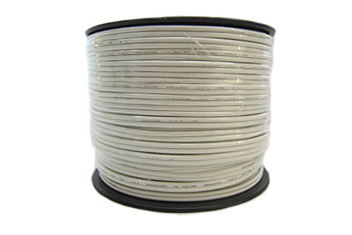 Speaker Wire 14 GA White Stranded Copper Clad 250 Feet Home Audio Surround Sound by Audiopipe