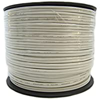 Speaker Wire 14 GA White Stranded Copper Clad 250 Feet Home Audio Surround Sound